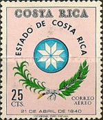 [Airmail - Various Costa Rican Coats of Arms (with Dates), type RH]