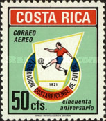 [Airmail - The 50th Anniversary of Costa Rican Football Federation, type RU]