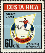 [Airmail - The 50th Anniversary of Costa Rican Football Federation, type RU1]
