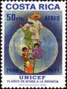 [Airmail - The 25th Anniversary of UNICEF, type RV]
