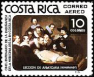 [Airmail - The 50th Anniversary of Legal Medical Teaching in Costa Rica, type ZO]