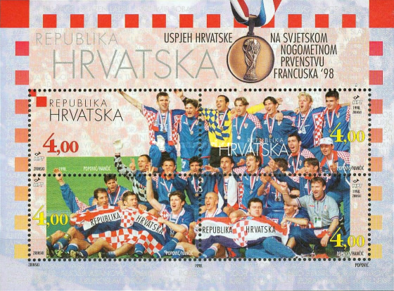 [Celebrating Bronzemedal for Croatia at the Football World Cup - France, type ]