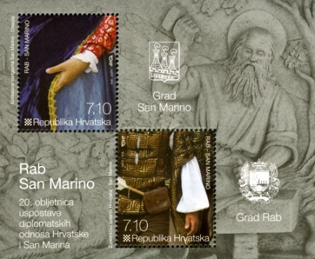 [The 20th Anniversary of Diplomatic Relations with San Marino - Joint Issue, type ]