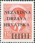 [Yugoslavia Postage Stamps Overprinted in Black - King Peter II, type A2]