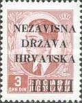 [Yugoslavia Postage Stamps Overprinted in Black - King Peter II, type A4]