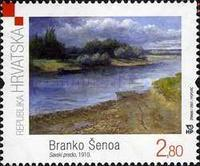 [Croatian Modern Painting - Branko Senoa - Area by the River Sava, 1910, type ABL]