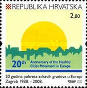 [The 20th Anniversary of the Healthy Cities Movement in Europe - Commercial Stamp, type ADH]