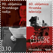 [The 90th Anniversary of Croatian Radio and the 60th Anniversary of Croatian Television, type AQH]