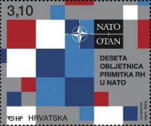 [The 10th Anniveersary of Croatian Membership of NATO, type AVS]