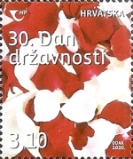 [National Day - The 30th Anniversary of the Republic of Croatia, type AZH]