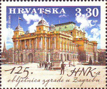 [The 125th Anniversary of the Croatian National Theater Building, type AZU]