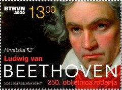[The 250th Anniversary of the Birth of Ludwig van Beethoven, 1770-1827, type AZX]