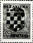 [Yugoslavia Postage Stamps Overprinted in Black - King Peter II, type B]