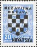[Yugoslavia Postage Stamps Overprinted in Black - King Peter II, type B13]