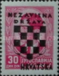 [Yugoslavia Postage Stamps Overprinted in Black - King Peter II, type B14]