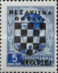 [Yugoslavia Postage Stamps Overprinted in Black - King Peter II, type B7]