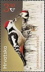 [Protected Bird Specie - Middle-spotted and White-winged Woodpecker - Joint Issue with Kyrgyzstan, type BBT]