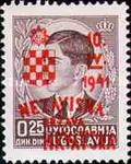 [Yugoslavia Postage Stamps Overprinted in Red or Blue -, type C]