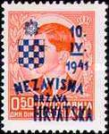 [Yugoslavia Postage Stamps Overprinted in Red or Blue -, type C1]
