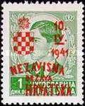 [Yugoslavia Postage Stamps Overprinted in Red or Blue -, type C2]