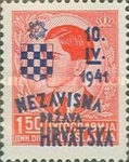 [Yugoslavia Postage Stamps Overprinted in Red or Blue -, type C3]