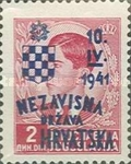 [Yugoslavia Postage Stamps Overprinted in Red or Blue -, type C4]