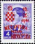 [Yugoslavia Postage Stamps Overprinted in Red or Blue -, type C6]