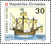 [EUROPA Stamps - The 500th Anniversary of the Discovery of America, type DQ]