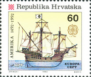 [EUROPA Stamps - The 500th Anniversary of the Discovery of America, type DS]