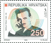 [The 50th Anniversary of the Death of Nikola Tesla, 1856-1943, type EF]