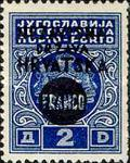 [Yugoslavia Postage-due Stamps Overprinted in Black, type F1]