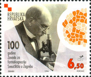 [The 100th Anniversary of the Institute for Pharmacognosy, Zagreb University, type JV]