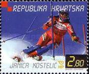 [Janica Kostelic - Winner of the World Skiing Cup 2000/2001, type RL]