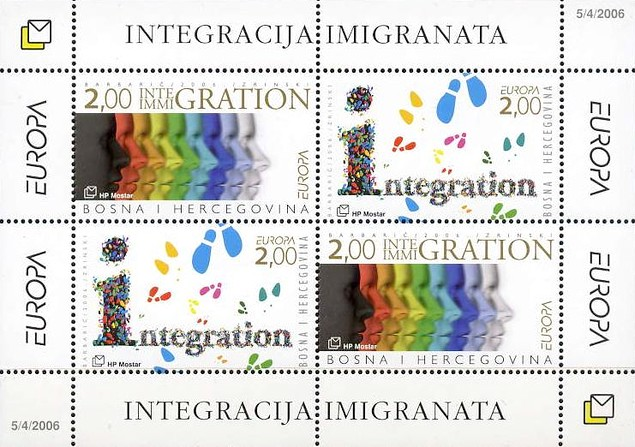 [EUROPA Stamps - Integration through the Eyes of Young People, type ]