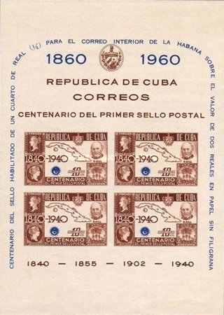 [The 100th anniversary of The Cuban Stamps, type ]