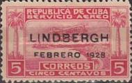 [Airmail - Lindbergh Commemoration, Not Issued Stamp Overprinted