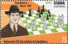 [Chess - The 125th Anniversary of the Birth of  José Raúl Capablanca, 1888-1942, type IQH]