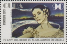 [Ballet - The 70th Anniversary of the Alicia Alonso debut in Gisselle, type IRQ]