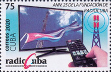 [The 25th Anniversary of the Founding of the Radiocommunication and Broadcasting Company of Cuba, type JYI]