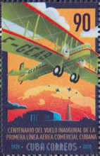 [The 100th Anniversary of the First Commercial Flight in Cuba, type JYJ]