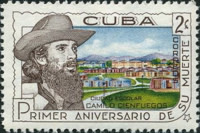 [The 1st Anniversary of the Death of Cienfuegos, Revolutionary Leader, type WW]