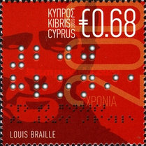 [The 200th Anniversary of the Birth of Louis Braille, type AKN]