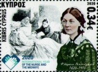 [International Year of the Nurse and Midwife - The 200th Anniversary of the Birth of Florence Nightingale, 1820-1910, type AVL]