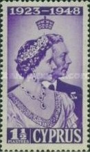 [The 25th Wedding Anniversary of King George VI and Queen Elizabeth, type AX]
