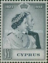 [The 25th Wedding Anniversary of King George VI and Queen Elizabeth, type AY]