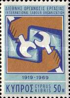 [The 50th Anniversary of the International Labour Organization, type FN]