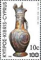 [Archaeological Treasures Stamps of 1980 Overprinted, type PL6]