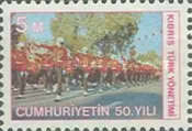 [The 50th Annniversery of the Republic of Turkey, Typ B]
