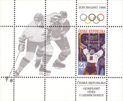 [Czech Republic Winner of the Ice Hockey Gold Medal - Winter Olympic Games - Nagano, Japan, type ]