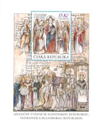 [The 1150th Anniversary of the Arrival of St. Cyril & Methodius - Joint Issue with Slovakia, Vatican & Bulgaria, type ]